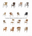 Poly rattan outdoor garden rattan chair with wicker can rattan chair