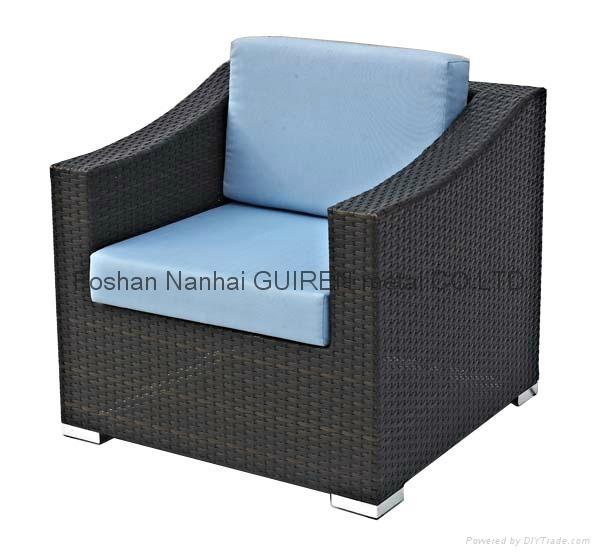 leisure modern rattan garden sofa chair table set GR-6011