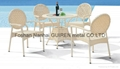 white rattan outdoor garden chair patio furniture with poly rattan furniture