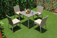 Excellent hotel PE rattan furniture dining cafe chair with restaurant chair