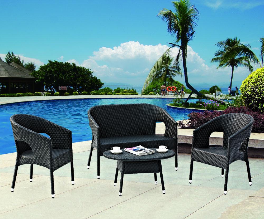 hot sale pe rattan garden furniture outdoor sofa