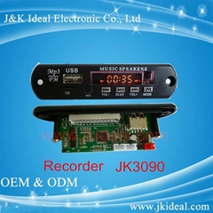 TF usb mp3 recorder module line in led display