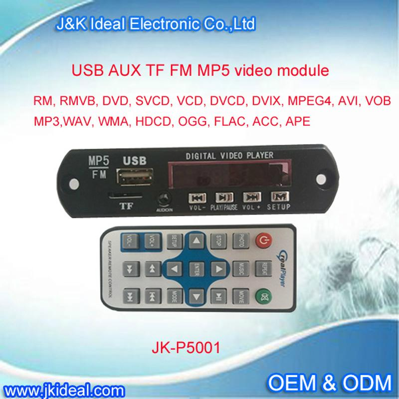 Bluetooth usb tf fm radio car mp3 mp4 mp5 video player decoder module  1