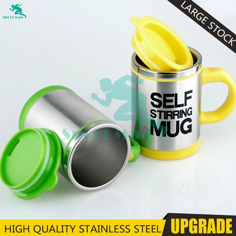 High Quality Powerful Energy Double Wall Stainless Steel Self Stirring Mug Perso 1
