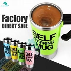 NEW Eco-Friendly Stocked Metal Stainless Steel Coffee Mug Self Stirring Mug