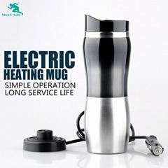 12V Custom Heated Drinking Mug Travel Mug with Car Adapter Plugs
