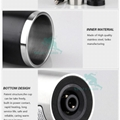 Double Walled 400ml 12V/24V Electric Auto Heated Thermos Travel Mug  5