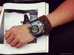 Quartz Men Military Watch for man noble big three-eye needle dial wristwatches