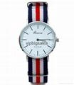 Stripe Nylon Fabric Canvas Sports wristwatch men Casual Watch  2