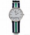 Stripe Nylon Fabric Canvas Sports wristwatch men Casual Watch  3