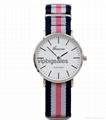 Stripe Nylon Fabric Canvas Sports wristwatch men Casual Watch  4