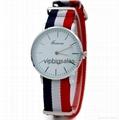 Stripe Nylon Fabric Canvas Sports wristwatch men Casual Watch  6
