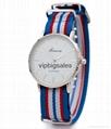 Stripe Nylon Fabric Canvas Sports wristwatch men Casual Watch  9
