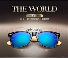 DHL Free shippingBamboo Sunglasses Men Wooden glasses Women glass