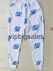 New 100 Emoji Jogger track Pants Women tracksuit