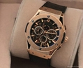 Men Big Watch Golden Stainless steel High Quality Male Quartz watches