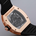 Hot fashion. Hollow silicon tape quartz men's watch imitation mechanical watch