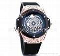 New WISH hot sell fashion empty-flower quartz steel shell watch high quality