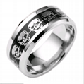 Halloween ring  Stainless Steel Skeleton Style fashion jewelry