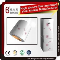High Glossy pvc coated steel sheet refrigerator decorative panels