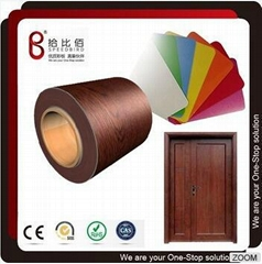 Zhspb Superior Quality Wood Design Laminated PVC Sheet for Fireproof Door Panel