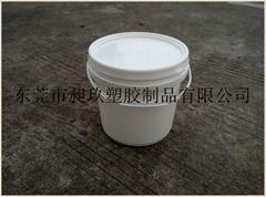 昶玖塑膠生產全新料5LUV油墨塑料桶