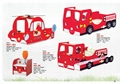 SMART KIDS Furniture 902-19 Fire engine bunk bed  2