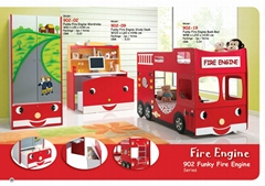 SMART KIDS Furniture 902-19 Fire engine bunk bed