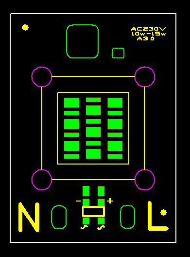 免驅動光引擎LED10W交流投光燈光源 1