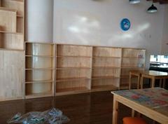 廊坊小童星幼儿實木傢具   幼儿多用玩具櫃