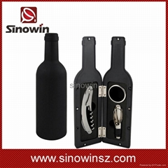 Wine Accessory Tool Gift Set with Pourer Collar Cork-Screw Stopper