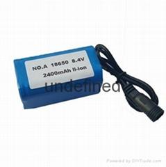 自行车灯锂电池组8.4V2400mAh 高性能可充电18650组合
