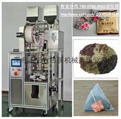 螺旋电子称尼龙三角袋茶叶包装机