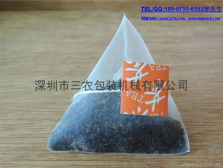 The nylon package triangle tea bag packing machine 4