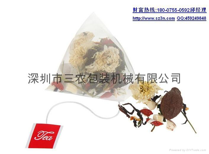 Herbal tea corn fiber triangle bag packaging machine 1