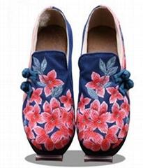 手工盤扣舒適養腳繡花鞋