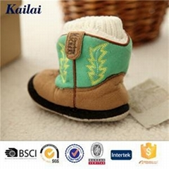 Suede Fabric Embroider Cashmere Child Shoes