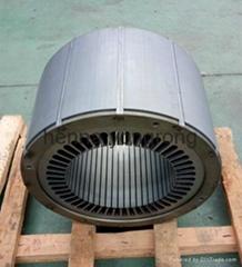 premium efficiency motor stator and rotor core