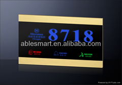 Shenzhen Best selling hotel Room Numbers Display electronic doorplate
