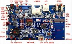 安卓雙8LVDS驅動內置PCI-E3G模塊工業主板HDMI高