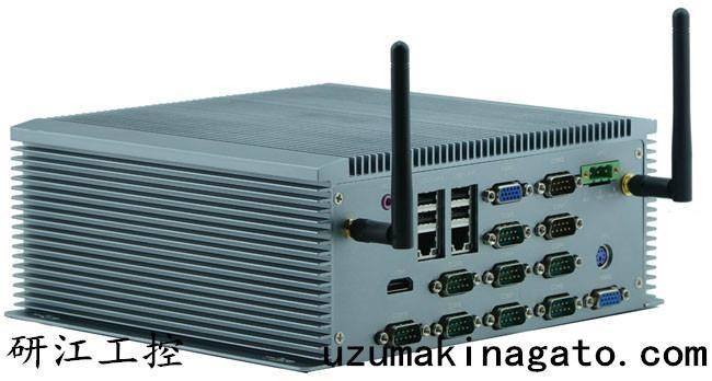 10串口雙VGA8—36V寬壓外插SIM卡無風扇工控機 3