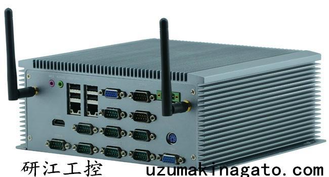 10串口雙VGA8—36V寬壓外插SIM卡無風扇工控機 4