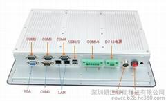7寸低耗車載嵌入式DC12V無風扇工業品牌平板一體機