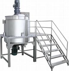 5000L PMC open tank lotion homogenizer mixer equipment manufacture