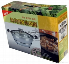 kitchen ware stockpot colour printing corrugated carton packaging