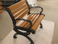 供應歐式塑木鑄鋁戶外公園休閑椅