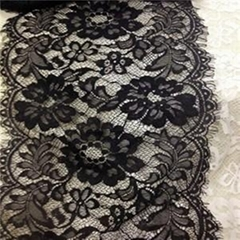 Chantilly Eyelash Lace In White (E0010)