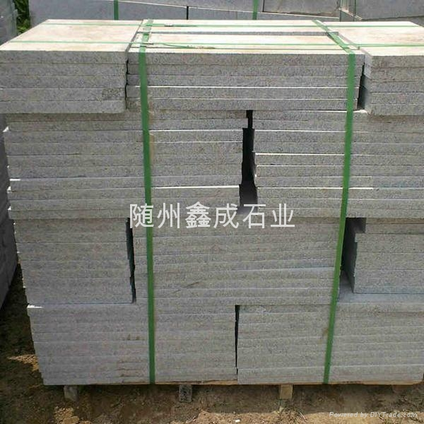湖北芝麻白荔枝板打毛面石材不鏽鋼砂 2