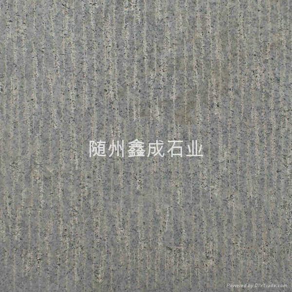 湖北芝麻白荔枝板打毛面石材不鏽鋼砂 5