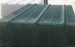high quality pvc coated 3d bending fence panel